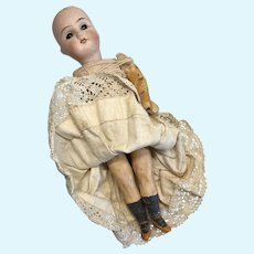 German Bisque Head Papier Mache Body Project Doll Antique Parts