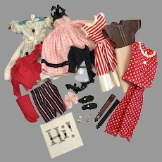 Vintage 1950s Vogue Jill Fashion Doll Tagged Dress Outfits Clothes Group