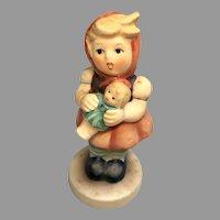 Adorable Vintage German Girl Holding Doll Goebel Hummel Figurine