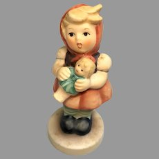 Adorable Vintage German Girl Holding Doll Goebel Hummel Figurine