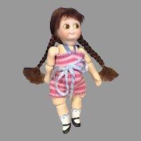 "Adorable UFDC Kestner Googly Artist Doll by Nada Christensen 4"" Miniature"