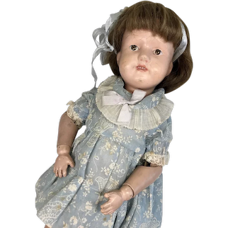 "15"" Wood Spring Jointed Schoenhut Antique Doll"