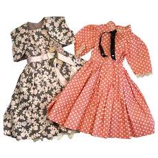 2 Beautiful Fashion Doll 1950s Dress Style Outfit