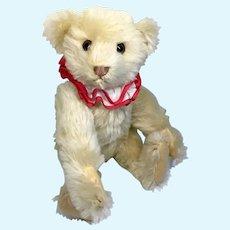Cute Steiff Teddy Bear Clown Replica Blank Button in Ear Squeaker