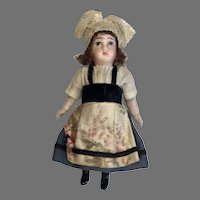 Antique French All Bisque Mignonette All Original Clothes Doll