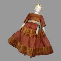 Pet Name Bertha Blonde China Head Molded Blouse Doll Fantastic Dress