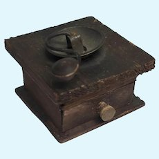 Miniature Doll Size Wood Antique Coffee Grinder