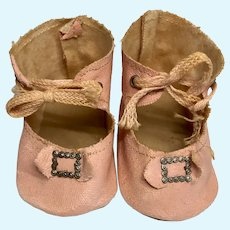 Pink Doll Shoes Metal Buckle Bow