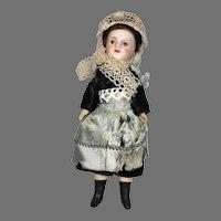 """8"""" French Bisque Head SFBJ 60 Doll Original Clothes"""