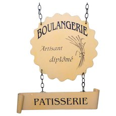 Authentic French Bakery - Pastry Shop Sign - Hanging Trade Signage