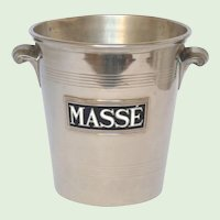 French Champagne / Ice Bucket / Pail / MASSE Champagne House -Advertising Promotional Pail