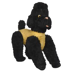 Vintage Stuffed Toy Dog from France - Plush Poodle