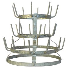 French Metal Bottle Dryer - Bottle Rack - Herisson