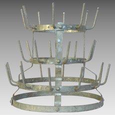 French Metal Bottle Dryer - Bottle Rack - Herisson