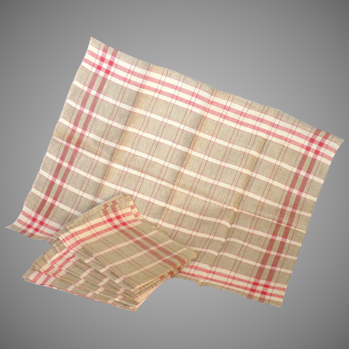 SET of Seven Never-Used Vintage Linen French Kitchen Towels - Torchons from  France - Linen Fabric