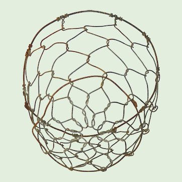 Rustic Wire Dome Basket from France - Livestock Muzzle