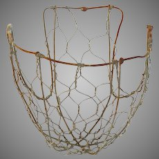 Rustic Wire Basket - Primitive French Livestock Muzzle