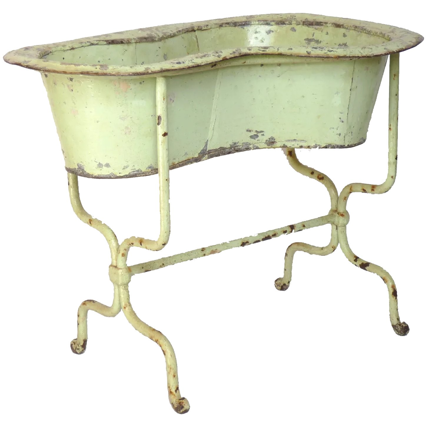 What Is Bath In French antique french zinc and cast iron bidet - planter - baby bath