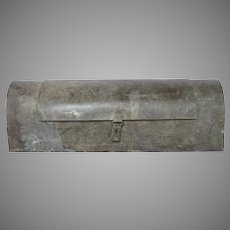 French Metal Tool Container - Hand Made Zinc Tool Box - Industrial Chic