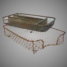 Pair of Vintage Wire Organizing Trays - Wire / Metal Paper Bin - Office Organizer / Desk Accessories