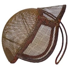 Early 1900s French Steel-mesh Fencing Mask - escrime Helmet