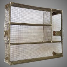Vintage Metal Tray Drawer Organizer - Flatware Caddy - Drawer Divider - Mesh Cutlery Tray