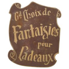 Authentic French Store Signage - Gift Shop Sign from France