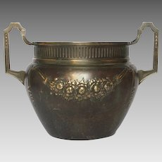 Late 19th Century French Pressed Brass Repoussee Planter - Cache Pot