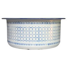 Enameled Washing Tub - Jardiniere from France - Early 1900s