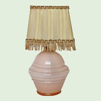Delightful petite French Glass lamp from the 1920s-1930s
