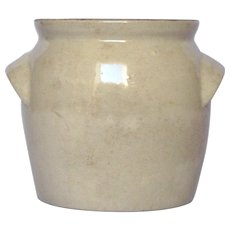 Early Vintage French Stoneware Crock / Confit Pot / Clay Jar