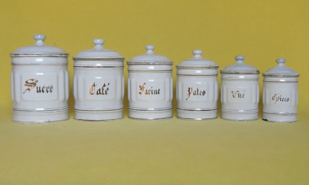 Incroyable ... French Enamelware Kitchen Canisters. Click To Expand