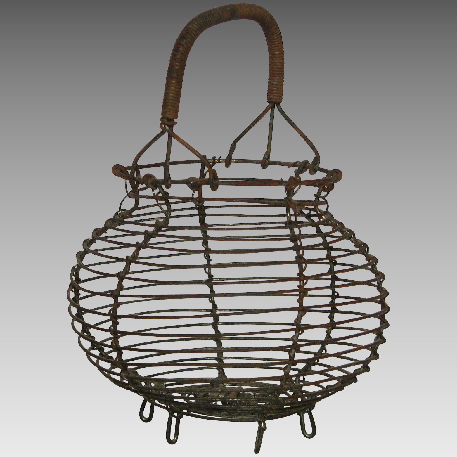 Miniature Wire Egg Basket - Doll / Child Size : Yesterdays France ...