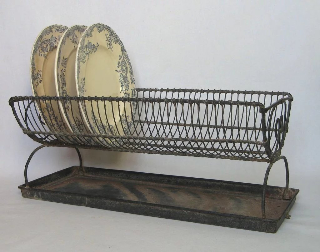 French Vintage Wire Dish Rack - Wire ware Dish Drain SOLD | Ruby Lane