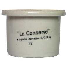 French Stoneware Crock - Clay Jar - Conserve Pot