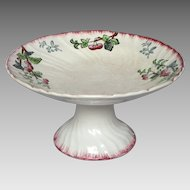 CLEARANCE SALE- French Longwy Porcelain Raised Dish - Compotier