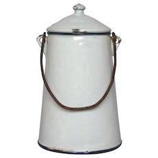 CLEARANCE Sale!  Enamel French Graniteware Milk Pot