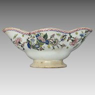 CLEARANCE ! French Polychrome Porcelain Sauciere - Gravy Boat