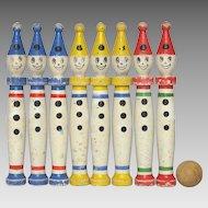 Wooden French Skittles Set / Bowling Pins / Jeu de Quilles