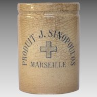 Very Vintage French Apothecary Pharmacy Jar