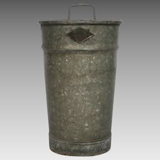 Vintage French Florist Bucket made of Zinc