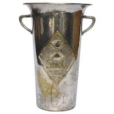 French Silver-Plate Wine Bucket - Ice Bucket - Alsatian Wine Holder