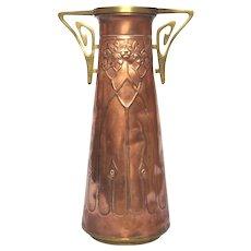 French Art Nouveau / Jugenstil Copper Vase - early 1900s