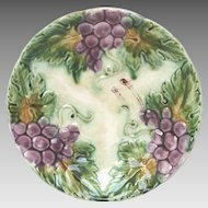 Vintage French Grape Cluster Majolica Plate