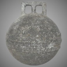 Vintage Zinc English BUOY FLOAT- Phillips Trawl - Rare Deep Sea model