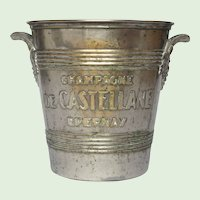 Art Deco Silver Plated Metal French Champagne Bucket - Ice Pail - Wine Cooler