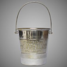 Vintage French Champagne - Ice - Bucket - Silver Plate - Silver Advertising Pail