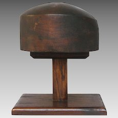 Wooden Hat Stand - Milliner Hat Form from France