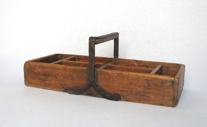 Wooden French Grafting Trug Gardening Basket Tool Tray