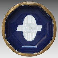 RARE Enameled Chevrolet Advertising Dish - Graniteware Automobile Advertising Premium